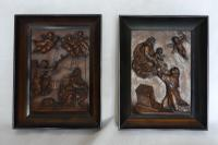 Pair of Continental Carved Early 19th Century Religious Panels (2 of 7)