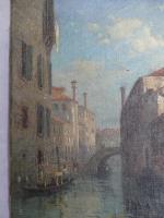 Stunning 19th Century Venetian Scene, Oil On Canvas by Thomas Pyne (4 of 8)