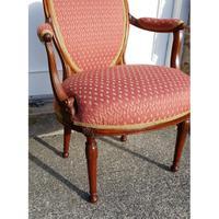 Good 18th Century Dutch Walnut Salon Chair (4 of 6)