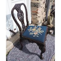 Chippendale Carved Mahogany Library Chair (7 of 8)