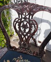 Chippendale Carved Mahogany Library Chair (6 of 8)