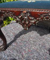 Chippendale Carved Mahogany Library Chair (3 of 8)