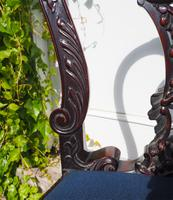 Chippendale Carved Mahogany Library Chair (2 of 8)