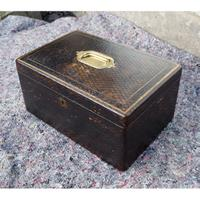 Mid 19th Century Leather Fitted Box (4 of 6)