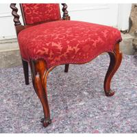 Early Victorian Rosewood Nursing Chair (4 of 7)