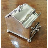 Fine Quality Silver Plated Desk / Ink Stand (2 of 7)