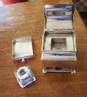 Fine Quality Silver Plated Desk / Ink Stand (6 of 7)