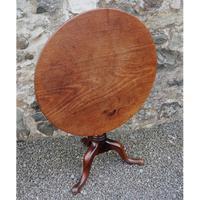 Large Georgian Cuban Mahogany Tripod Table