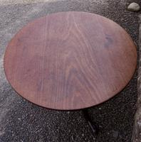 Large Georgian Cuban Mahogany Tripod Table (5 of 6)