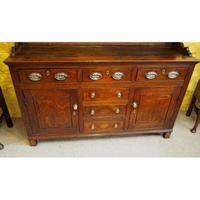 Good Georgian Oak Dresser & Rack (4 of 7)