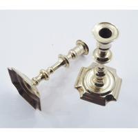 Pair of Queen Anne Brass Candlesticks (3 of 5)