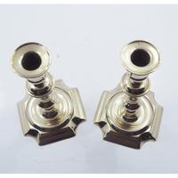 Pair of Queen Anne Brass Candlesticks (4 of 5)