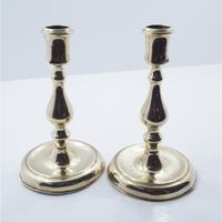 Pair of Early 18th Century Brass Candlesticks (2 of 5)