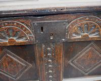 Baby Size 17th Century Carved Oak Coffer (6 of 8)