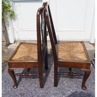 Pair of Early Georgian Oak Cab Leg Chairs (3 of 7)