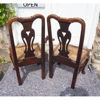Pair of Early Georgian Oak Cab Leg Chairs (4 of 7)