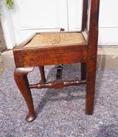 Pair of Early Georgian Oak Cab Leg Chairs (5 of 7)