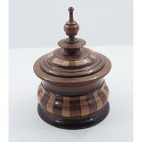 Super Dutch Inlaid Walnut Tobacco Box