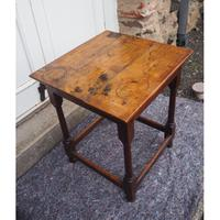 Early 18th Century Oak Occasional Table (2 of 7)