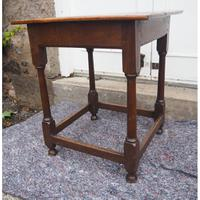 Early 18th Century Oak Occasional Table (4 of 7)