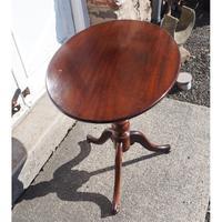 19th Century Mahogany Oval Tripod Table