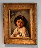 Irish Oil Painting of a Girl by Ethel Graham
