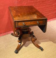 Fine Late Georgian Inlaid Mahogany Pembroke Table