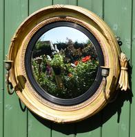 Fine Regency Convex Mirror (9 of 9)
