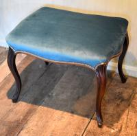 Fine Victorian Rosewood Cabriole Leg Stool (3 of 7)