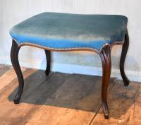 Fine Victorian Rosewood Cabriole Leg Stool (4 of 7)