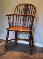Superb Yew Wood Low Back Windsor Chair (2 of 11)