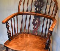 Superb Yew Wood Low Back Windsor Chair (3 of 11)