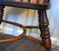 Superb Yew Wood Low Back Windsor Chair (7 of 11)