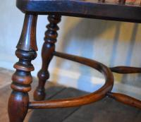 Superb Yew Wood Low Back Windsor Chair (8 of 11)
