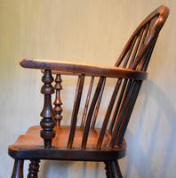 Superb Yew Wood Low Back Windsor Chair (9 of 11)