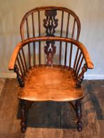 Superb Yew Wood Low Back Windsor Chair (10 of 11)