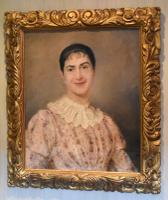 Superb Portrait of a Lady by A.Larroux (2 of 9)