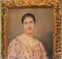 Superb Portrait of a Lady by A.Larroux (3 of 9)