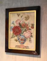 Victorian Needlework of a Vase of Flowers (2 of 9)