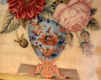 Victorian Needlework of a Vase of Flowers (5 of 9)