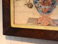 Victorian Needlework of a Vase of Flowers (6 of 9)