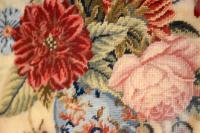 Victorian Needlework of a Vase of Flowers (7 of 9)