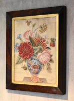 Victorian Needlework of a Vase of Flowers (9 of 9)