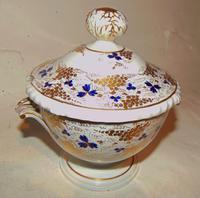 Derby Porcelain Sauce Tureen, Marked 1820