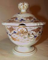Derby Porcelain Sauce Tureen, Marked 1820 (3 of 4)