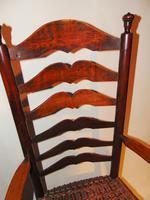 American Georgian Cherrywood Ladder Back Armchair (8 of 9)