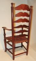 American Georgian Cherrywood Ladder Back Armchair (4 of 9)