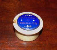Georgian Bone and Bilston Enamel Pill Box (2 of 6)