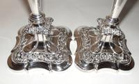Pair of Edwardian Silver Plated Candlesticks (6 of 6)