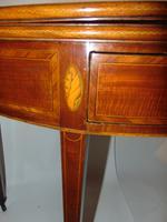 Scottish Sheraton Mahogany Demi-Lune Tea Table (3 of 7)